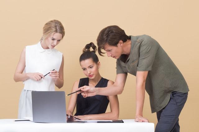 people on laptop